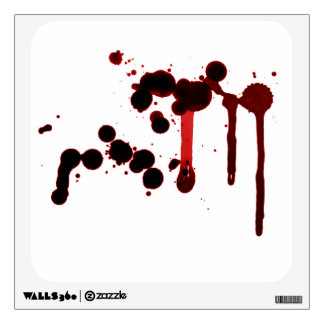 Designer Blood Splatter Wall Decal
