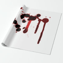 Designer Blood Splatter Wrapping Paper
