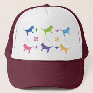 Designer Bloodhound Print Trucker Hat