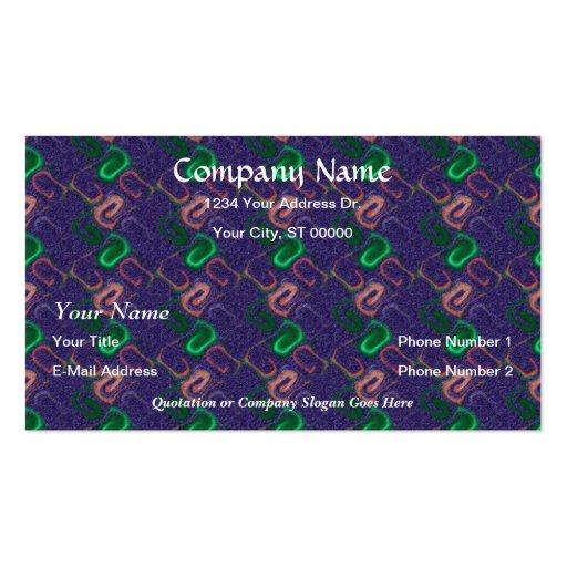 Designer Blue Green Faux Finish Business Cards