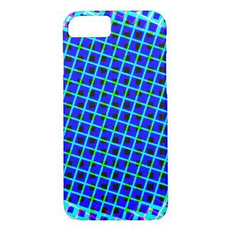 Designer Blue Modern Shapes iPhone 7 Case