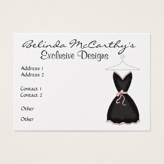 Designer / Boutique / Seamstress - SRF Business Card