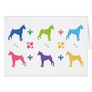 Designer Boxer Print Card