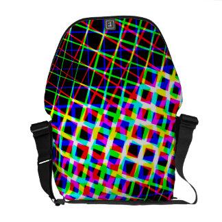 Designer Bright Squares And Lines Bag