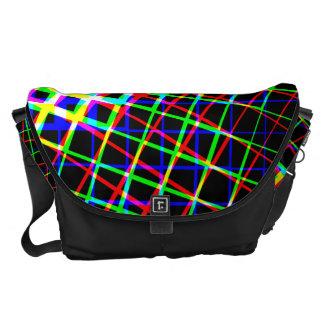 Designer Bright Squares And Lines Large Bag