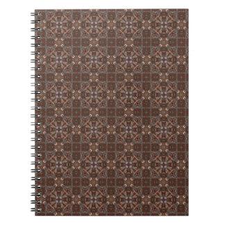 Designer Browns Spiral Notebook