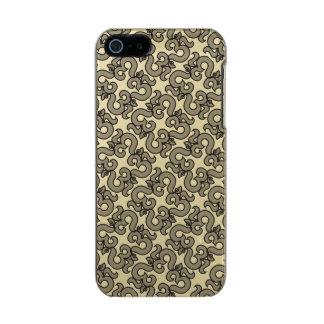 """Designer Brushed Gold """"Houndstooth"""" Phone case"""