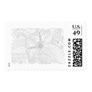 Designer Butterfly Post Stamp