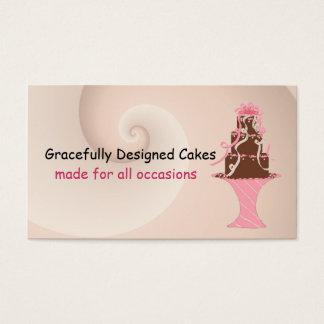 Designer Cake Fancy Chocolate Business Card