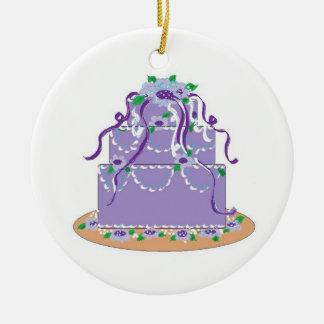 Designer Cake in Shades of Purple Christmas Tree Ornament