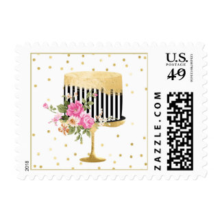 Designer Cake Postage Stamp