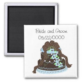 Designer Cake Save the Date Fridge Magnets