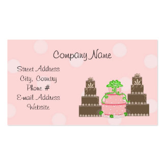 Designer Cakes Double-Sided Standard Business Cards (Pack Of 100)