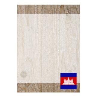 "Designer Cambodia Flag Box 5"" X 7"" Invitation Card"