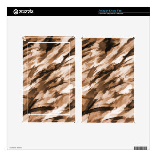 Designer Camo in Beige and Burnt Sienna Kindle Fire Skins