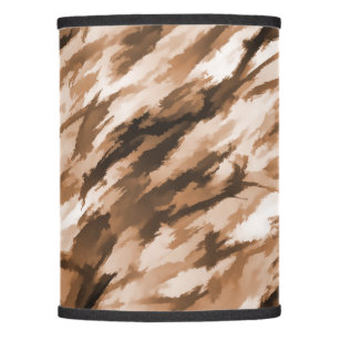 Superior Designer Camo In Beige And Burnt Sienna Lamp Shade