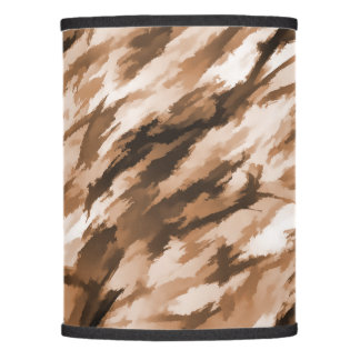 Designer Camo in Beige and Burnt Sienna Lamp Shade