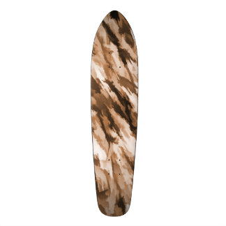 Designer Camo in Beige and Burnt Sienna Skateboard Deck