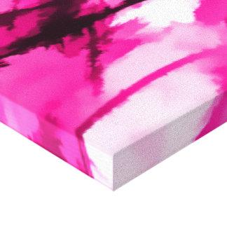 Designer Camo in Hot Pink Canvas Print