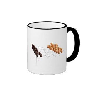 Designer chess mugs