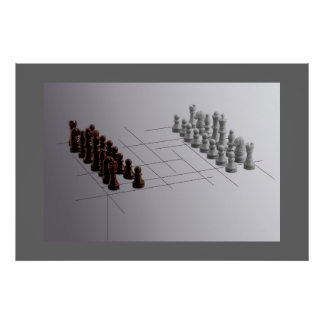 Designer chess poster
