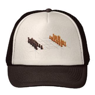 Designer chess trucker hat