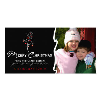 Designer Christmas Tree Photo Card