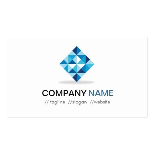 Designer Contemporary Diamond Shape Pattern Business Cards (back side)