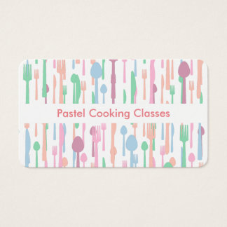 Designer Cooking School Business Cards