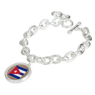 Designer Cuba Flag Box Charm Bracelet