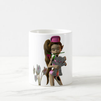 Designer cup of cups coffee cup elf motive Lola