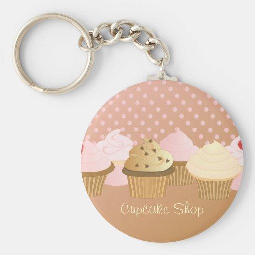 Designer Cupcakes Basic Round Button Keychain