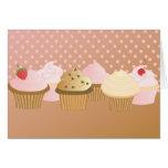 Designer Cupcakes Greeting Card