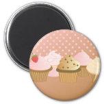 designer cupcakes refrigerator magnet