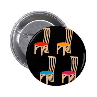 Designer dining chair 2 inch round button