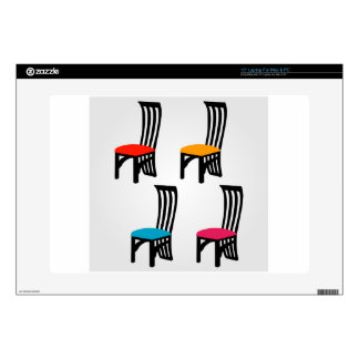 "Designer dining chair graphic 15"" laptop decal"