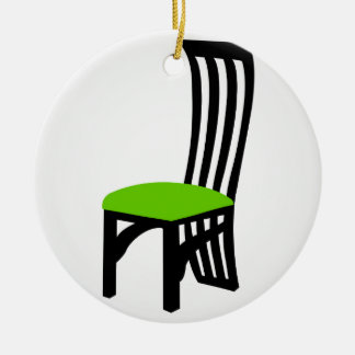 Designer dining chair graphic ceramic ornament