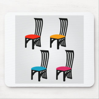 Designer dining chair graphic mouse pad