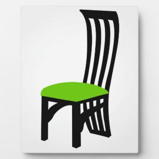 Designer dining chair graphic plaque