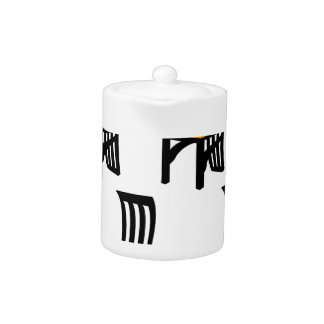 Designer dining chair graphic teapot
