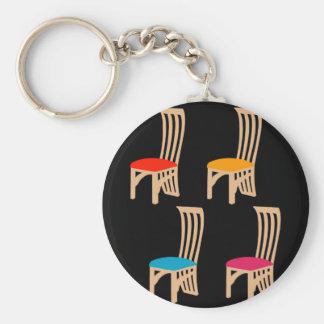 Designer dining chair keychain