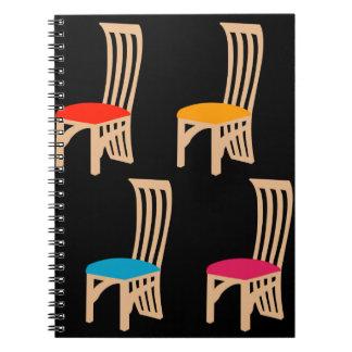 Designer dining chair notebook