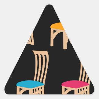 Designer dining chair triangle sticker