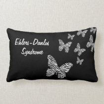 Designer EDS Zebra Striped Butterfly Throw Pillow