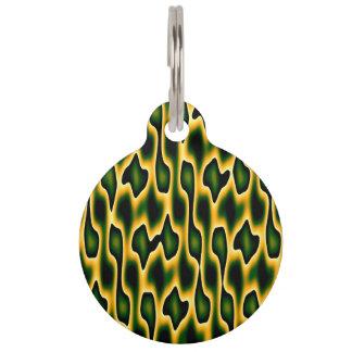 Designer Emerald Snakeskin Pet Nametag