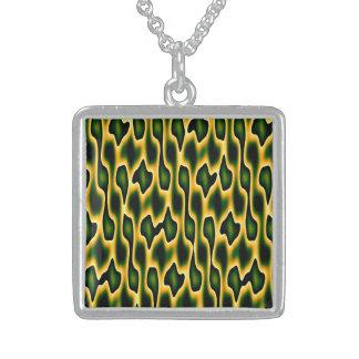 Designer Emerald Snakeskin Pendant