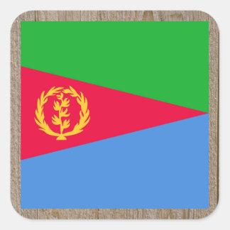 Designer Eritrea Flag Box Square Sticker