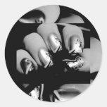 Designer Fingernails Classic Round Sticker