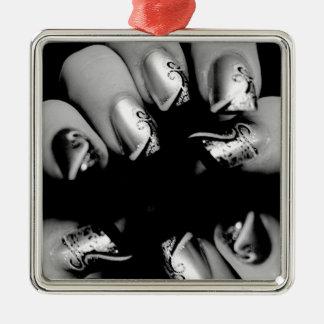 Designer Fingernails Metal Ornament