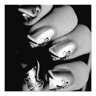 Designer Fingernails Personalized Announcement